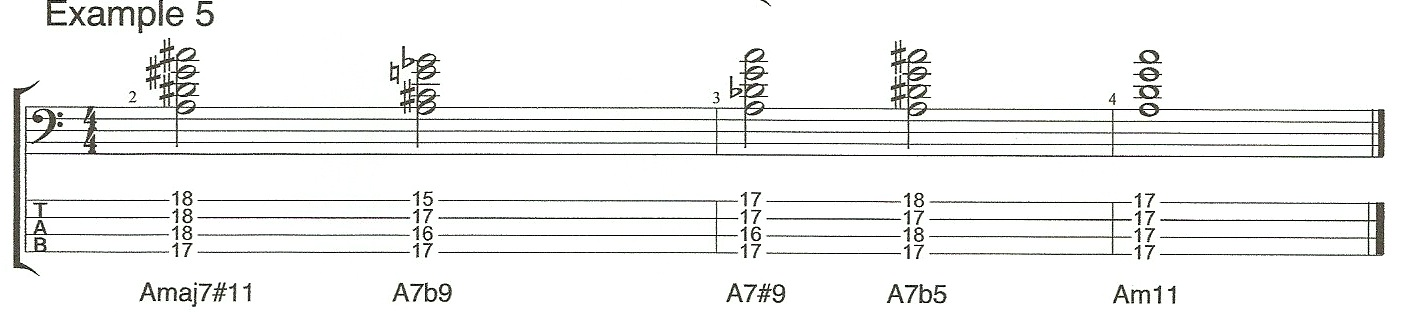Video 4 Example 5 Chord extensions