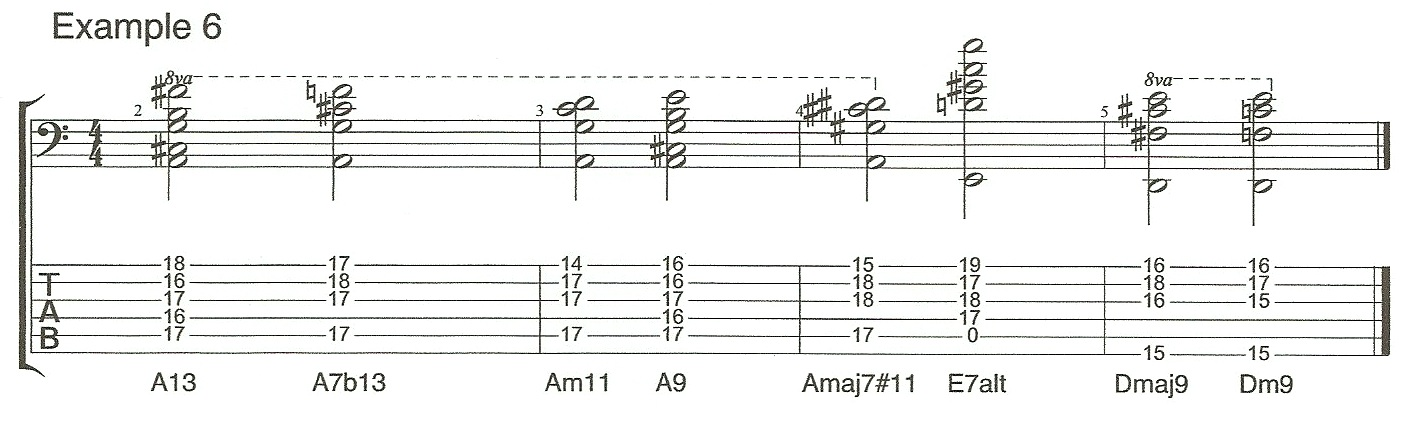 Video 4 Example 6 Chord extensions