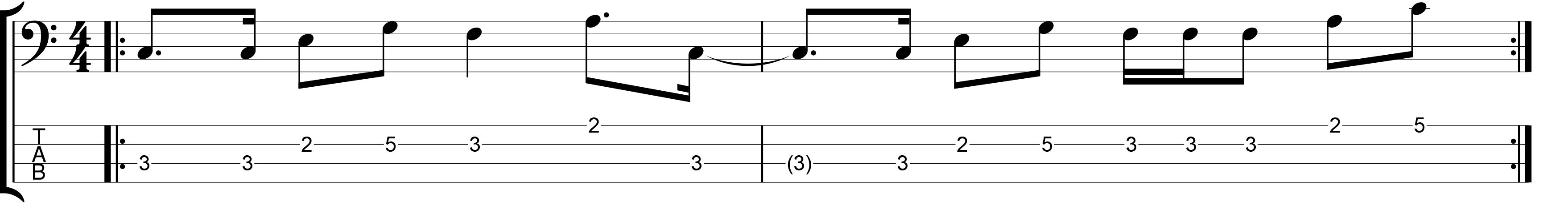 Bass line with a 16th note feel