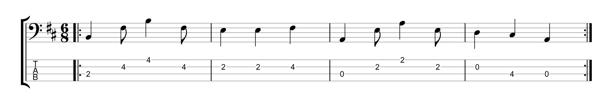 6/8 Time Signature - Example 1