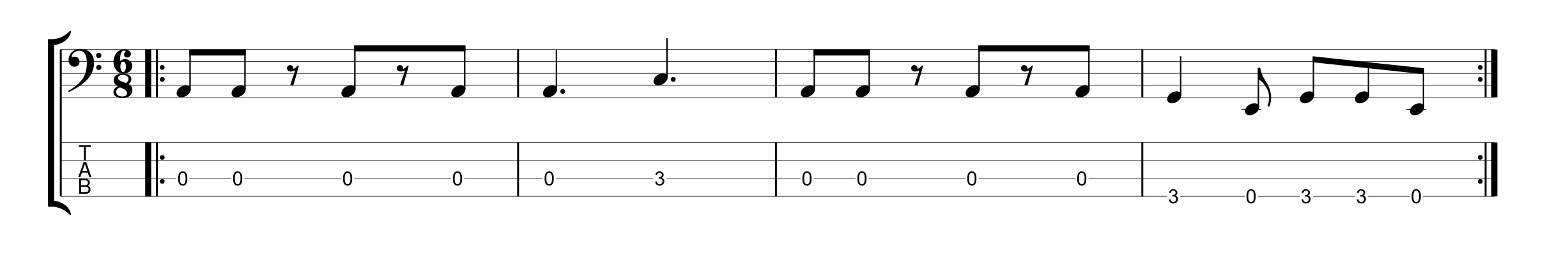 6/8 Time Signature - Example 3