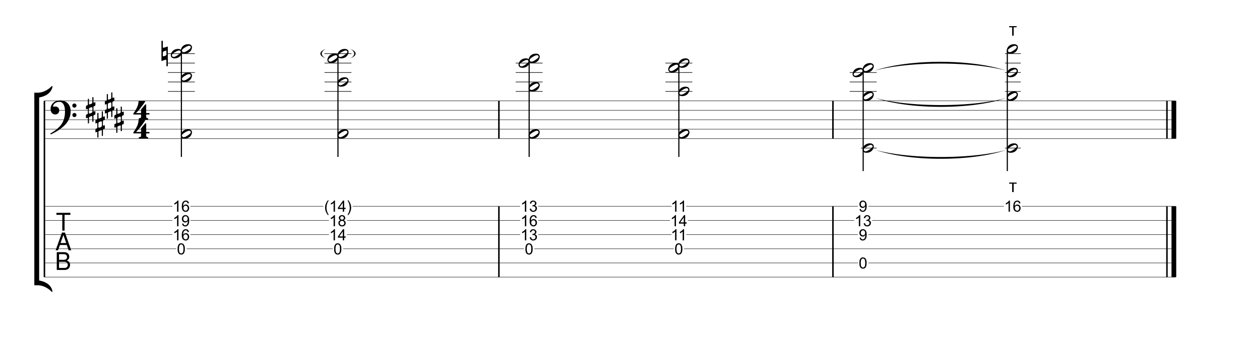 Suspended and Major Chord Voicings Opening Sequence