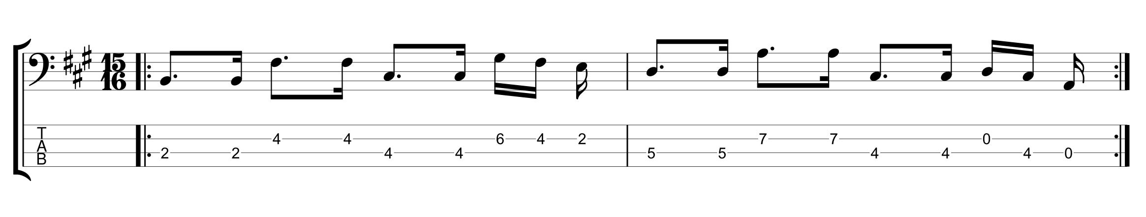 Odd Meter Bassline in 15/16