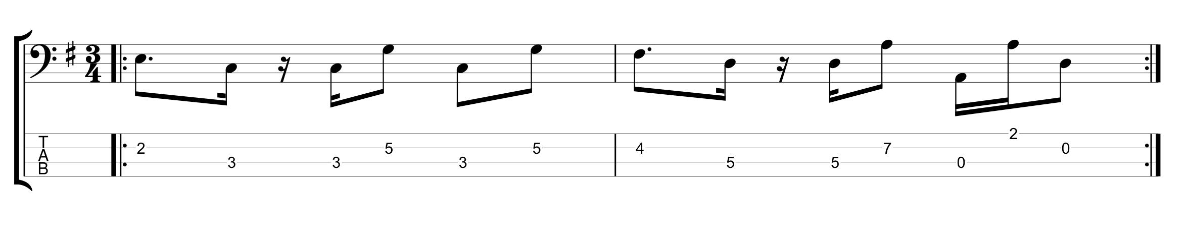 Odd Meter 3/4 Example