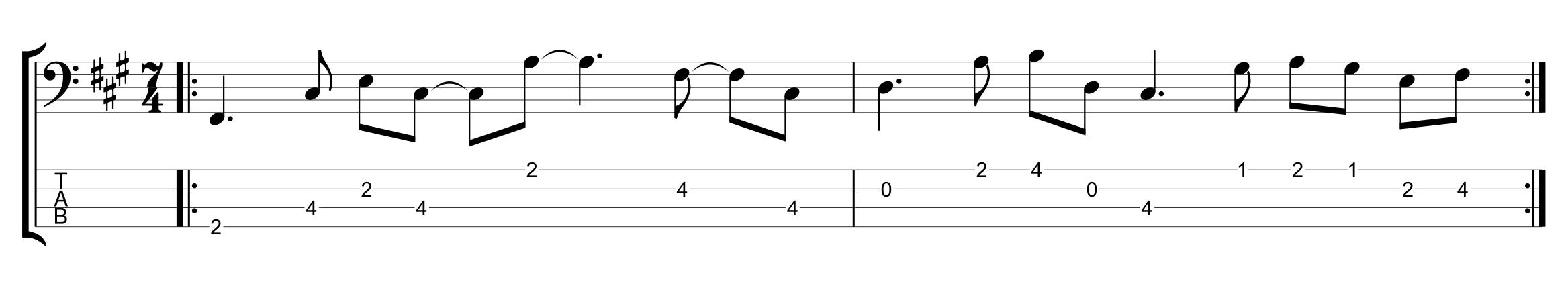 7/4 Bassline