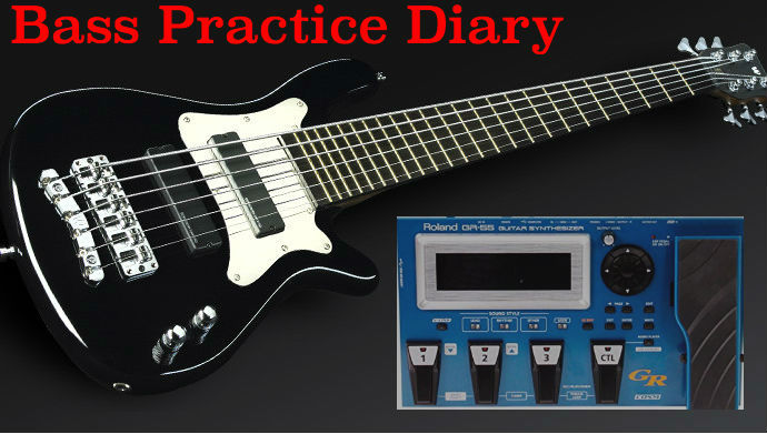 roland gr 55 and bass guitar bass practice diary 17 johnny cox music. Black Bedroom Furniture Sets. Home Design Ideas