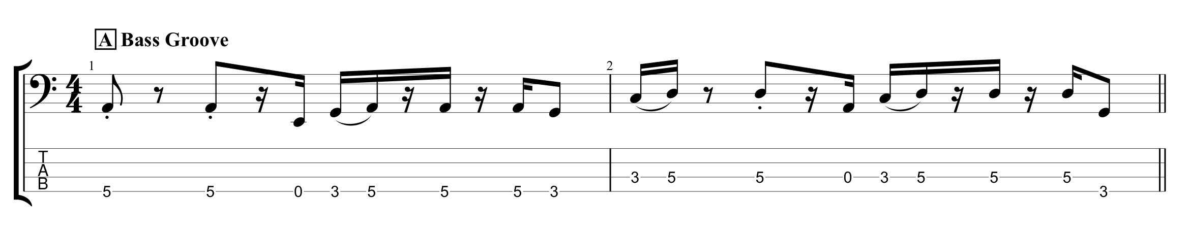 Bass Groove for Rhythmic Variations