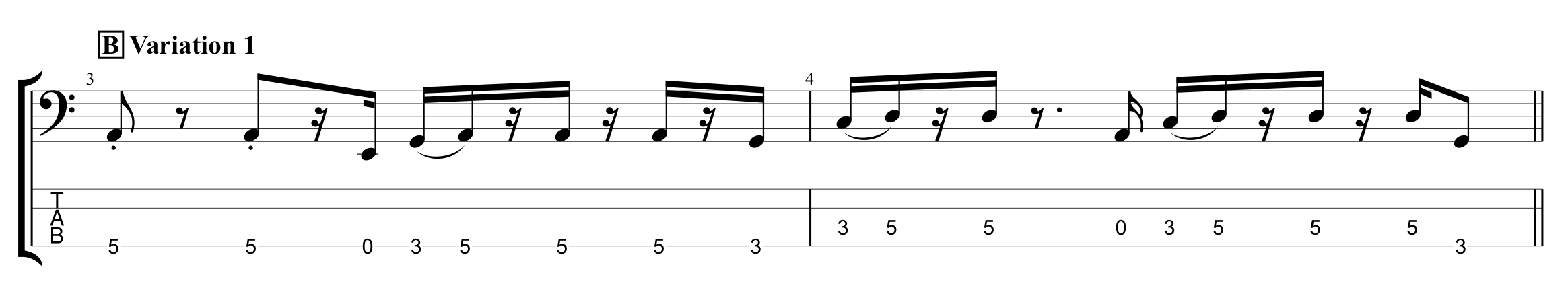 First Rhythmic Variation