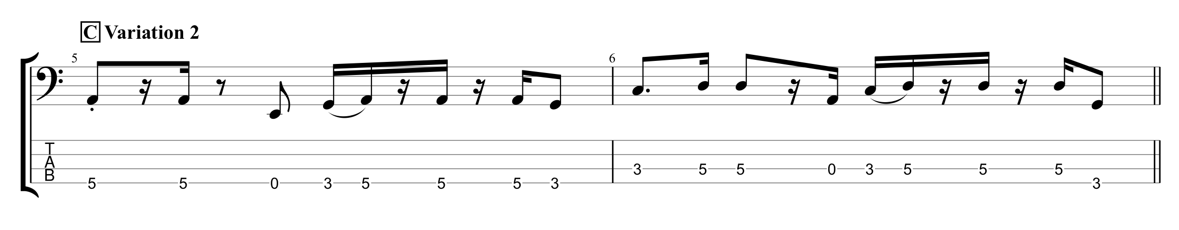 Rhythmic Variation Example 3