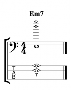 Em7 Voiced Using Natural Harmonics