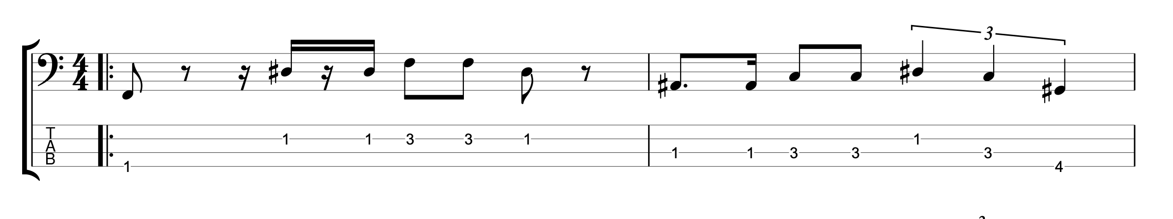 Straight 16th Bass Groove with 16th note Triplets