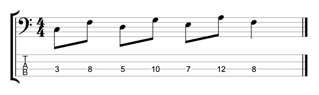 4th intervals on a single string