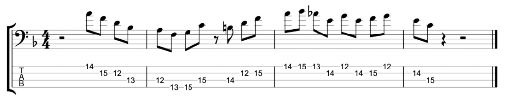 Jeff Andrews Jazz Bass Lick