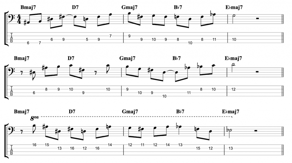 Giant Steps Licks for Bass Bars 1-3