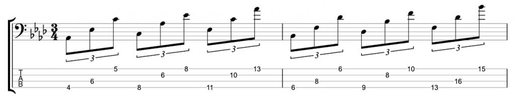 Ab major and Bb minor triads