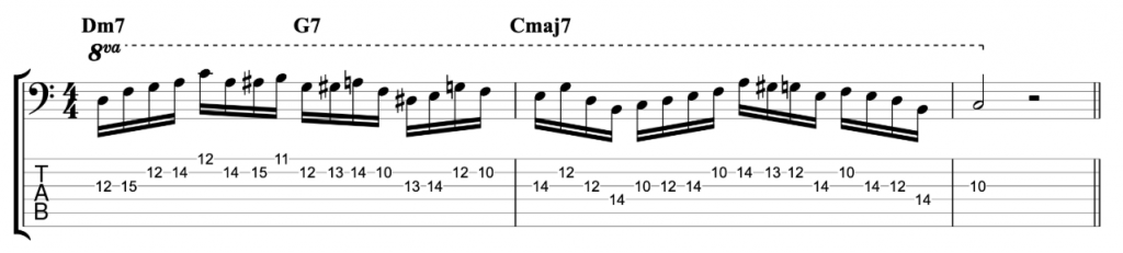 16th Note Jazz Line - Example 1