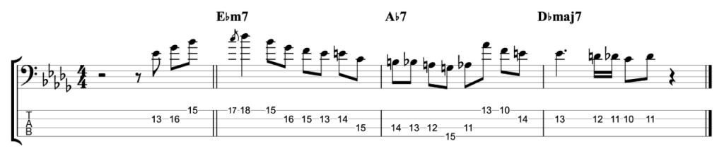Michael Brecker Jazz Lick - Db