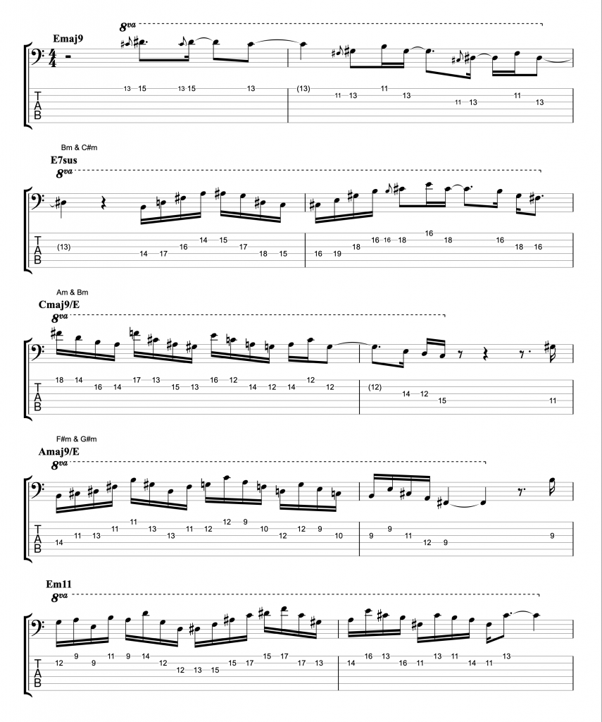 6-string Bass Solo featuring Inside/Outside Pentatonics