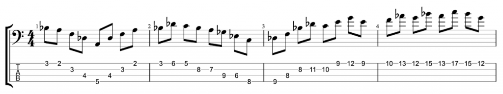 Bass Practice Workout Line
