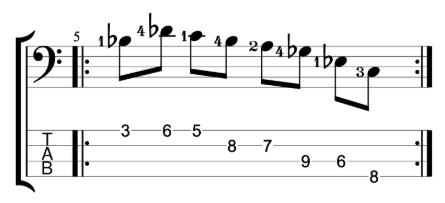 Bass Practice Workout - Bar 2 - Position Shifting