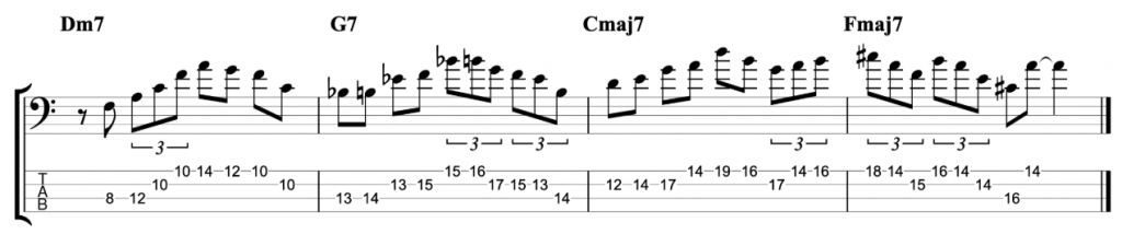 Jazz Lick using both Standard and Altered Pentatonic Scales