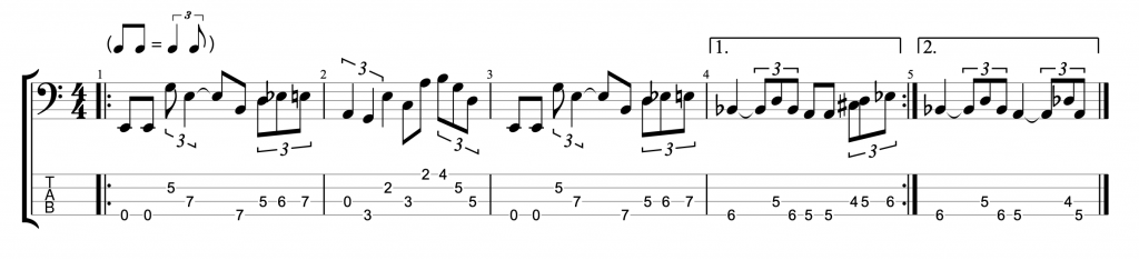 Fretless Bass Line
