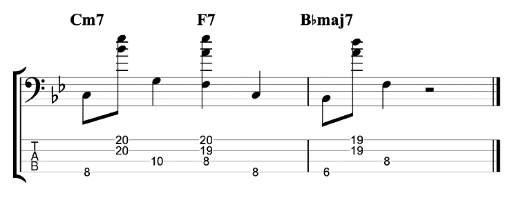 Tapping Chords - II-V-I Exercise