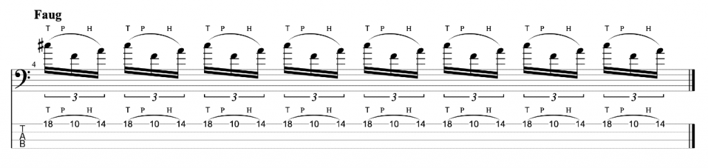 Tapping Triads Exercise for Bass Guitar