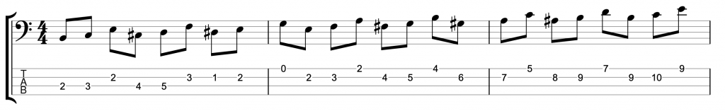 Major Scale Jazz Exercise with Chromatic Approach Notes