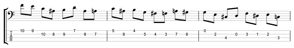 Major Scale Jazz Line in 3rds with Chromatic Approach Notes
