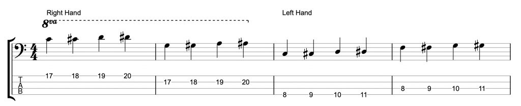 Two Hand Tapping - Four Finger Exercise