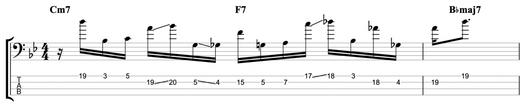 Two-Hand Tapping Jazz Line