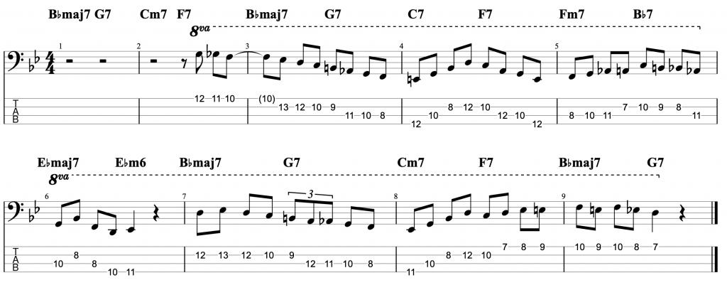 Jazz Solo Line #3: Oleo (Bb Rhythm Changes), Niels Henning Orsted Pedersen