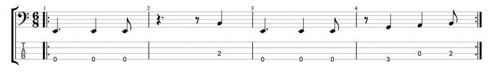 Six Eight Bass Groove #1