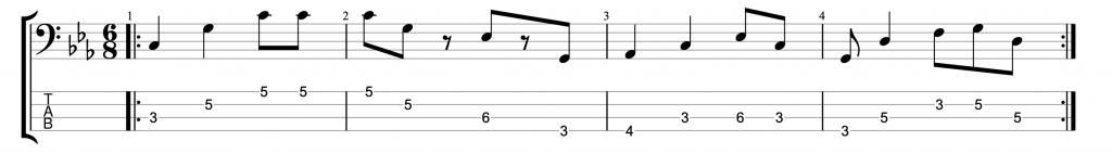 Six Eight Bass Groove #2
