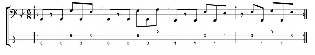 Six Eight Bass Groove #3