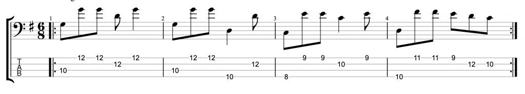 Six Eight Bass Groove #4